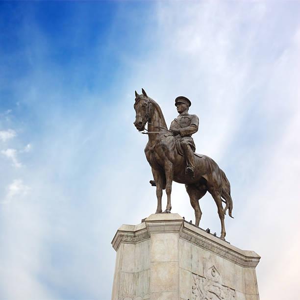 Statue of Ataturk in Ulus, Ankara, Turkey stock photo
