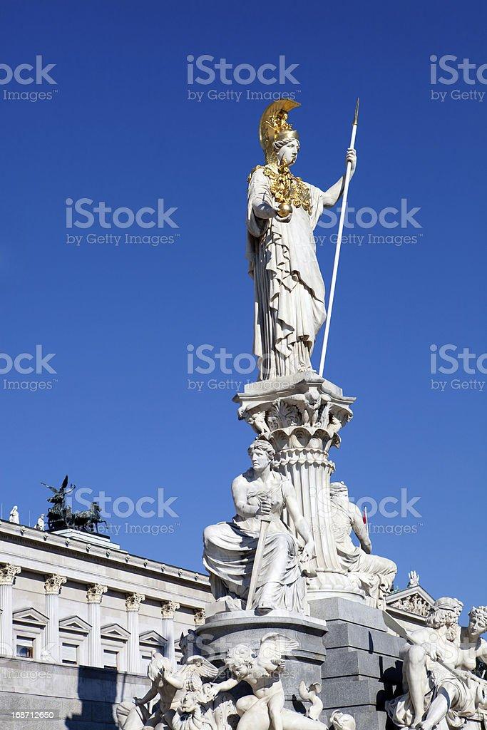 Statue of Athena, Vienna, Austria stock photo