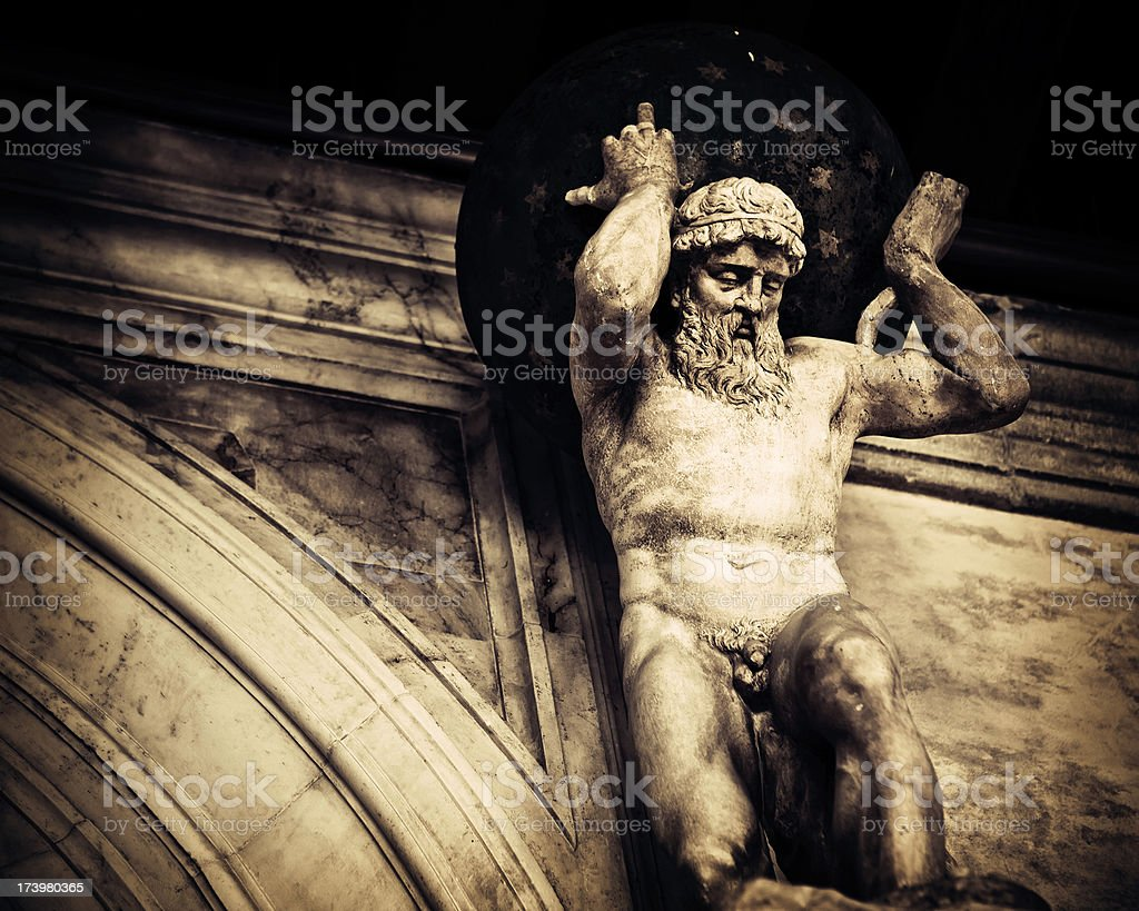 Statue of Atlas at Doges Palace royalty-free stock photo