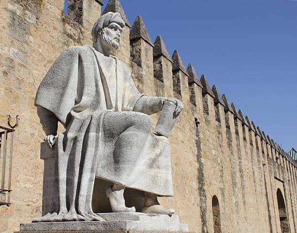 Statue of Averroes in Cordoba stock photo