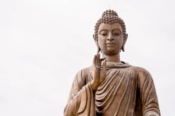 Statue von Buddha überzogen mit Blattgold – Foto