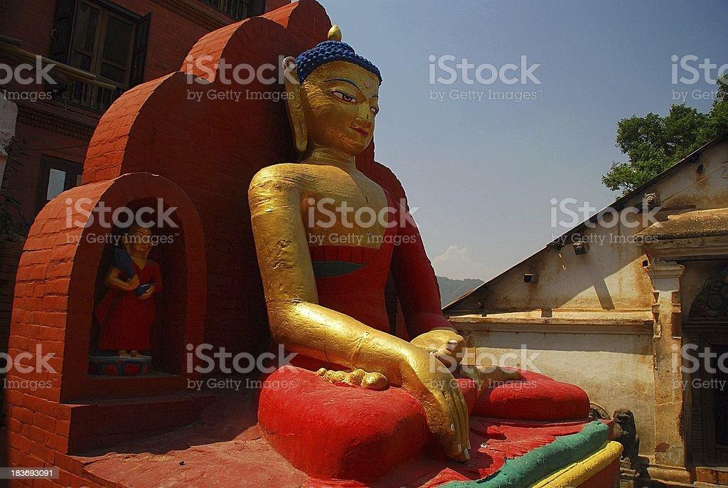 Statue of Buddha, Kathmandu, Nepal royalty-free stock photo
