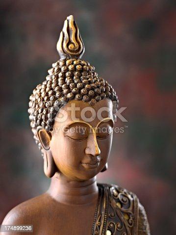 Close up of a Buddha Statue.