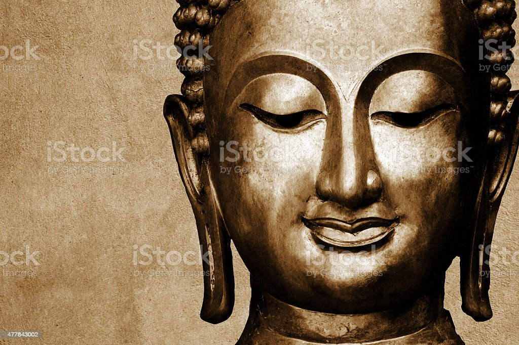 Statue of Buddha space for your text stock photo