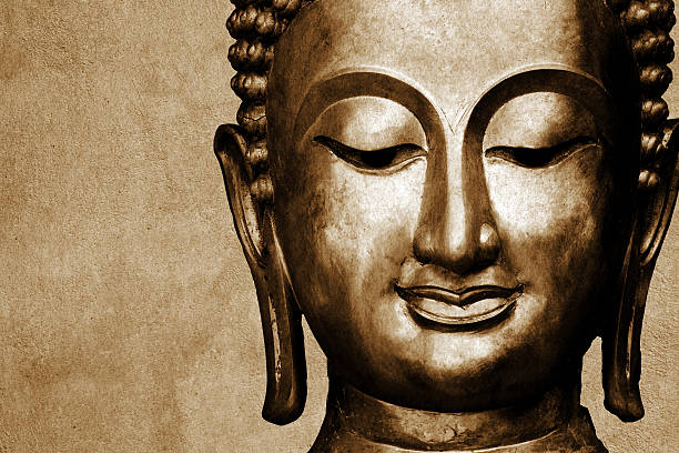 statue of buddha space for your text - buddha stock photos and pictures