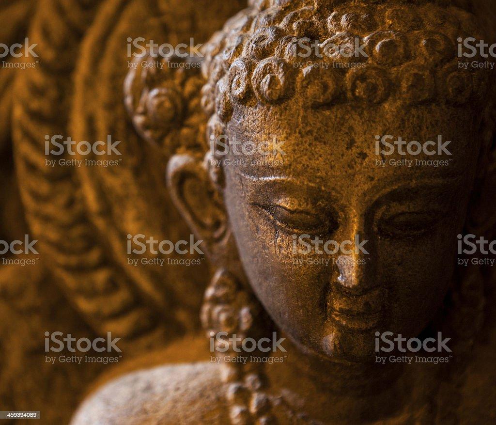 Buddha-statue, die in Swayambhunath, der Affentempel – Foto