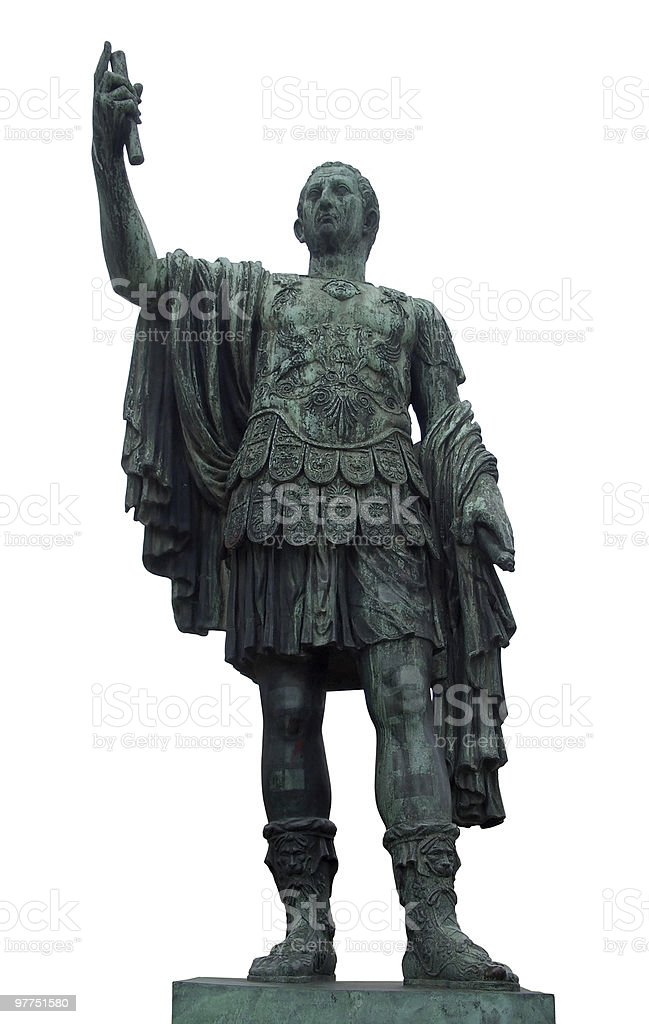 statue of Caesar in Rome royalty-free stock photo