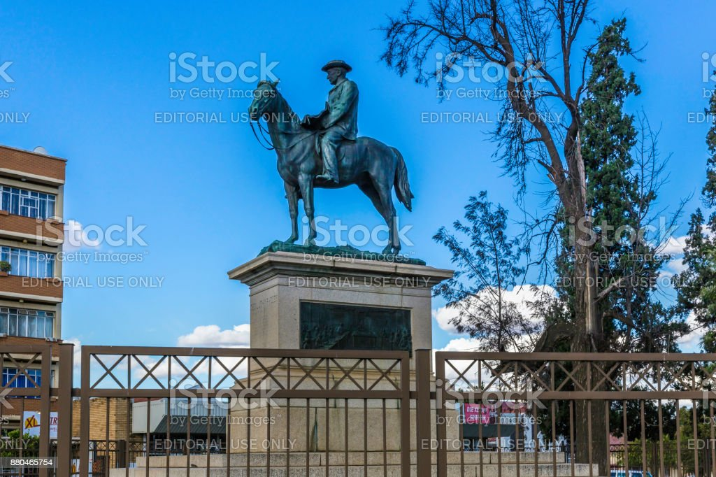 Statue of Cecil John Rhodes in Kimberley