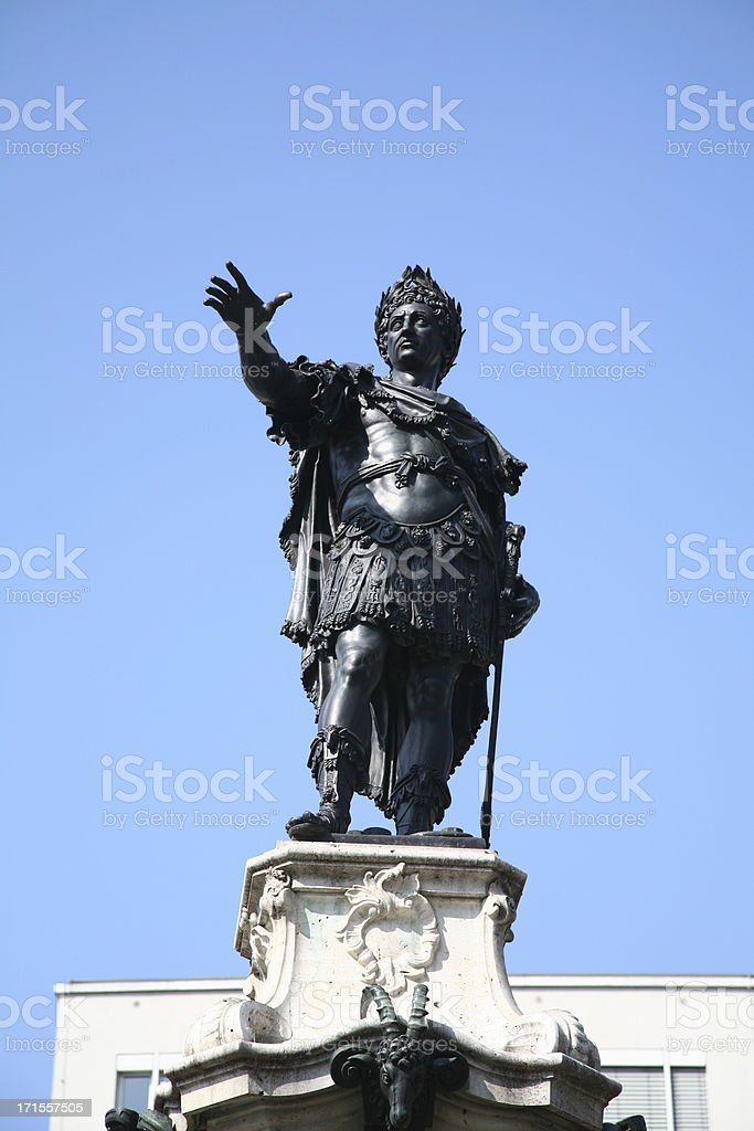 Statue of Cesar royalty-free stock photo