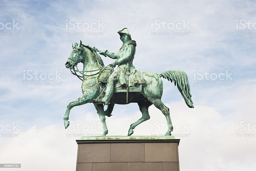 Statue of Charles XIV John royalty-free stock photo