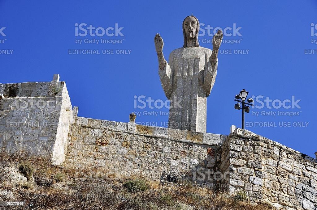 Statue of Christ stock photo