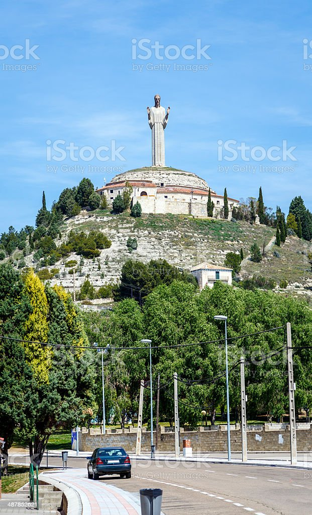 Statue of Christ the Otero in Palencia, Spain stock photo