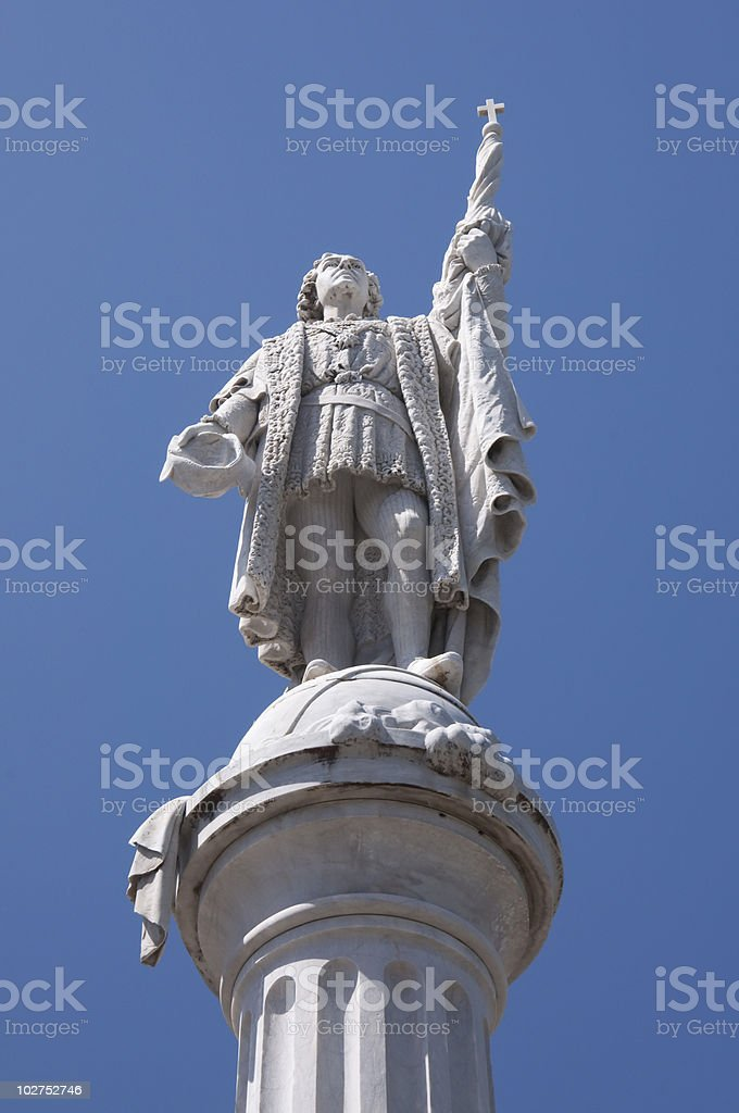 Statue of Christopher Columbus royalty-free stock photo