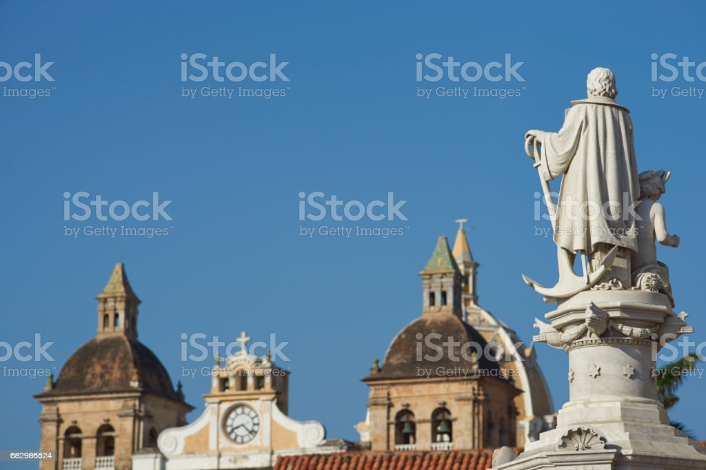 Statue of Christopher Columbus stock photo