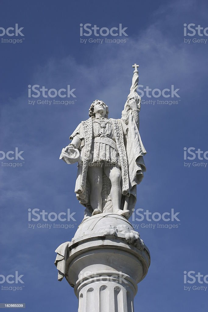 Statue of Columbus royalty-free stock photo
