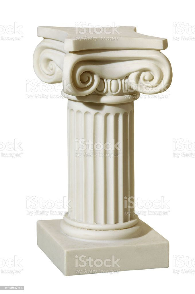 Statue of columns in Greek style royalty-free stock photo