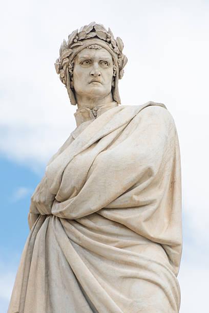 statua di dante alighieri a firenze, italia - dante alighieri foto e immagini stock
