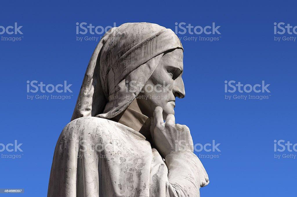 Statue of Dante Verona Italy stock photo