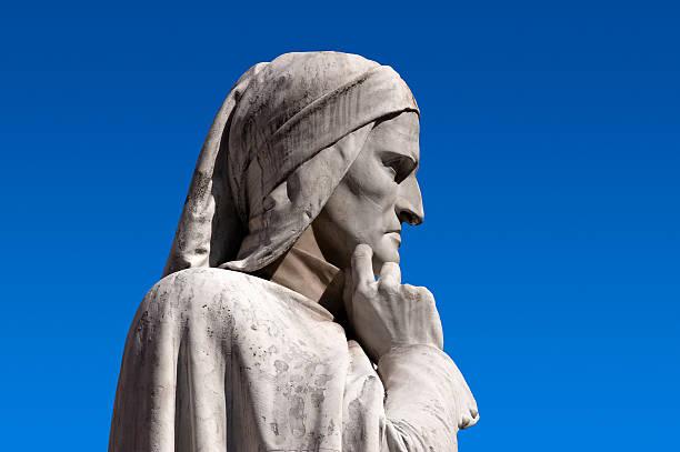 statua di dante verona italia. - dante alighieri foto e immagini stock