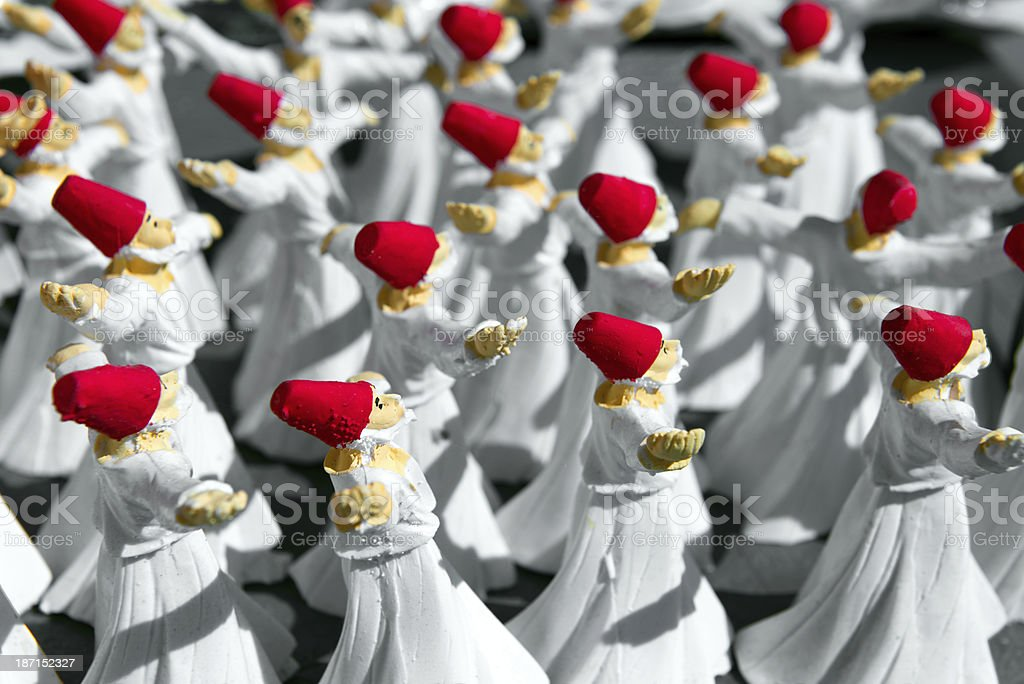 Statue of Dervishes stock photo