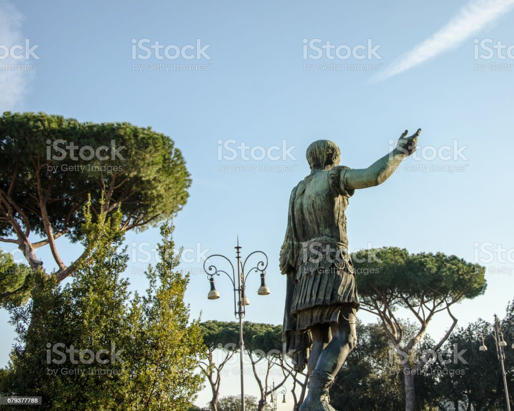 Statue of emperor Rome royalty-free stock photo