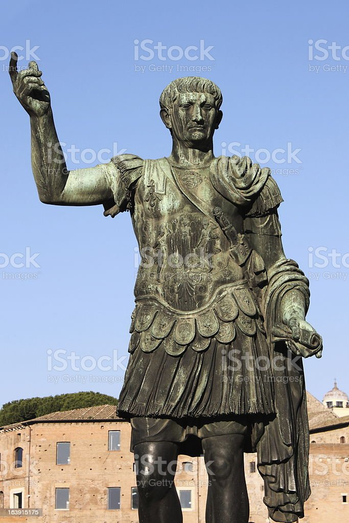 Statue of emperor Trajan royalty-free stock photo