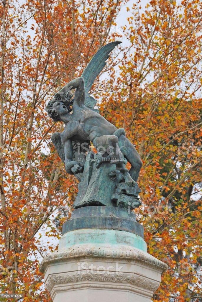 Statue of Fallen Angel stock photo