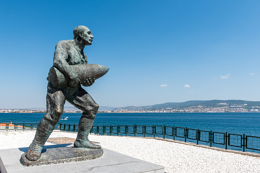Statue of famous Turkish Corporal, Seyit Cabuk