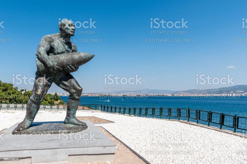 Statue du célèbre turc caporal, Seyit Cabuk - Photo