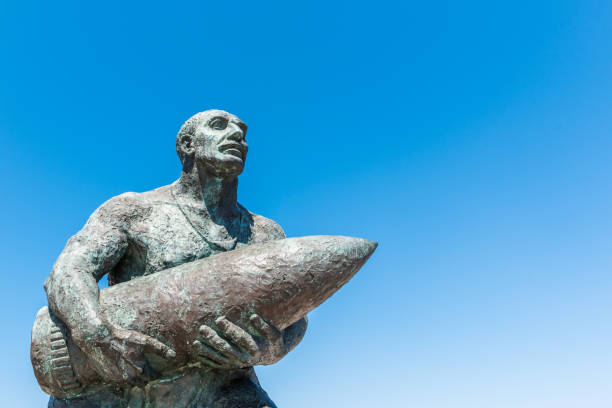 Cтоковое фото Statue of famous Turkish Corporal, Seyit Cabuk