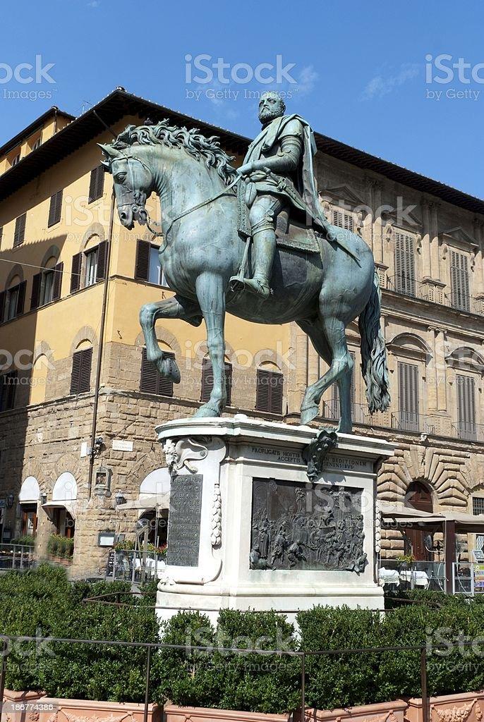 Statue of Ferdinando I de' Medici royalty-free stock photo