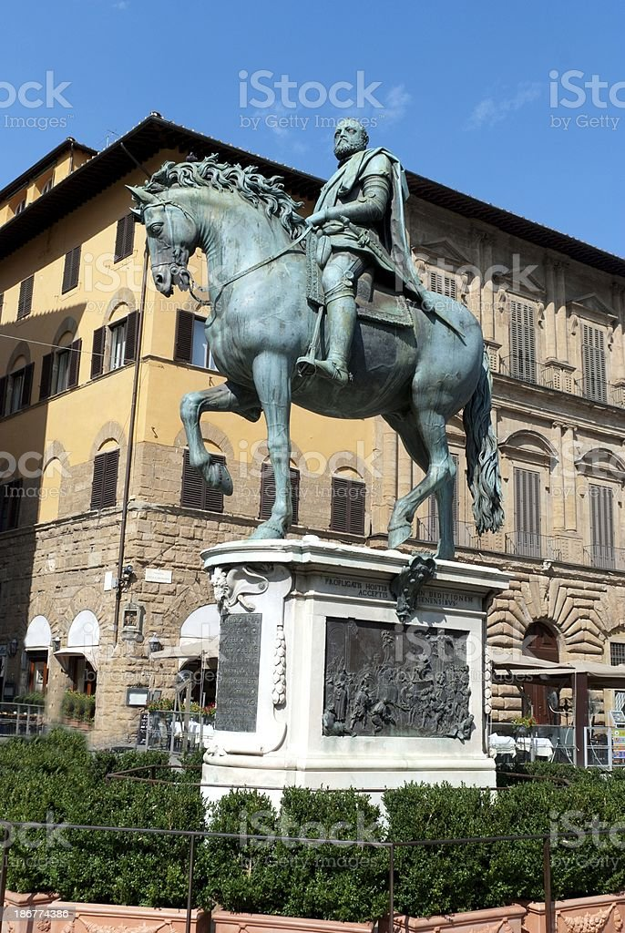 Statue of Ferdinando I de' Medici stock photo