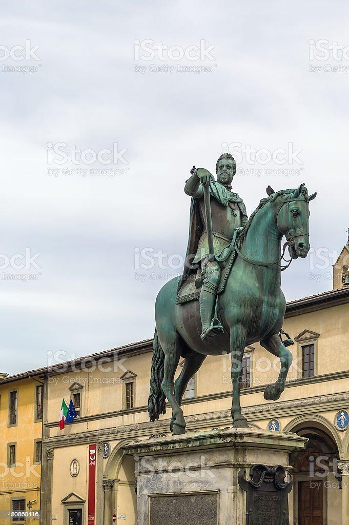statue of Ferdinando I, Florence, Italy stock photo