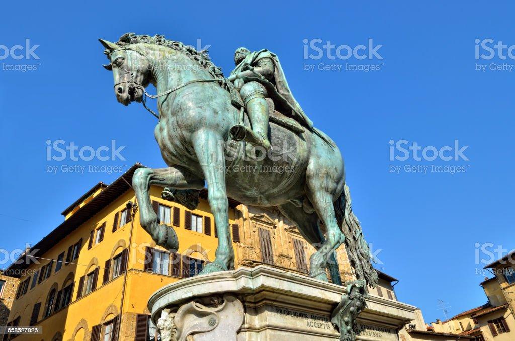 Statue of Ferdinando I stock photo