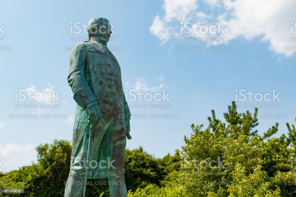 Statue of Francis Joseph Paul de Grasse in Virginia Beach stock photo