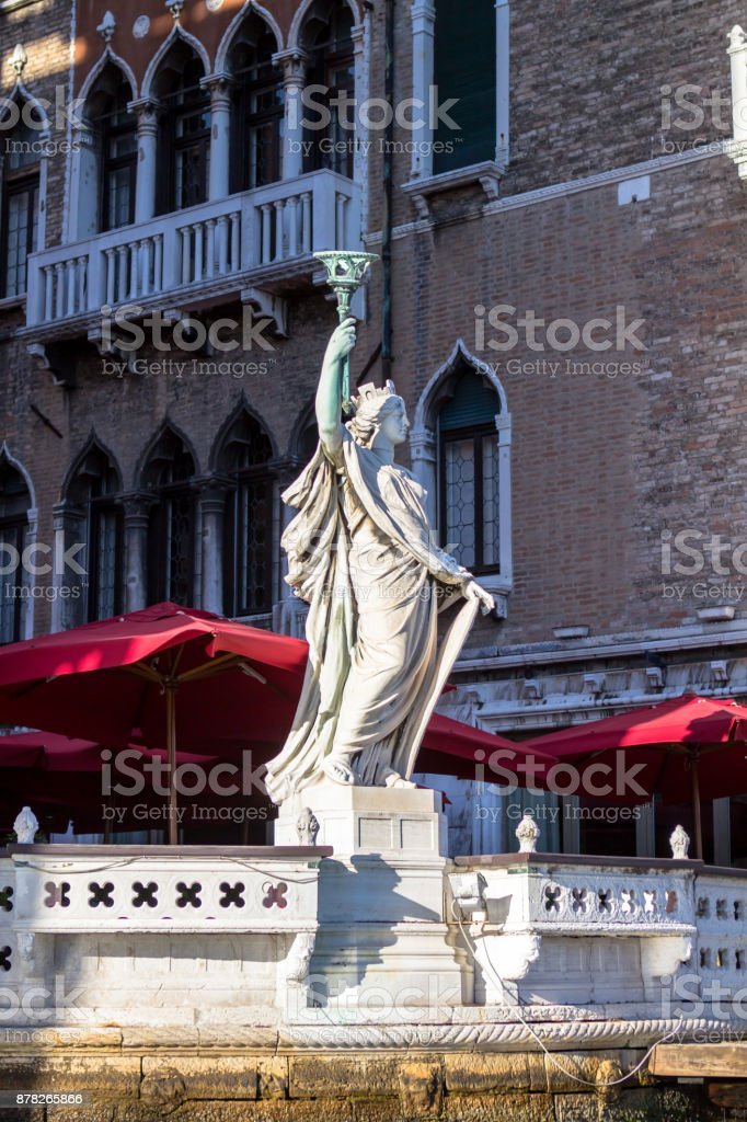 Statue of freedom in Venice stock photo