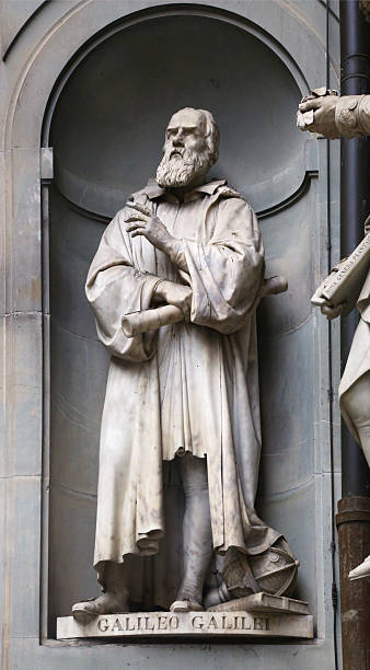 Statue of Galileo in Florence Statue of famous italian scientist Galileo Galilei in Florence, Italy. galileo galilei stock pictures, royalty-free photos & images