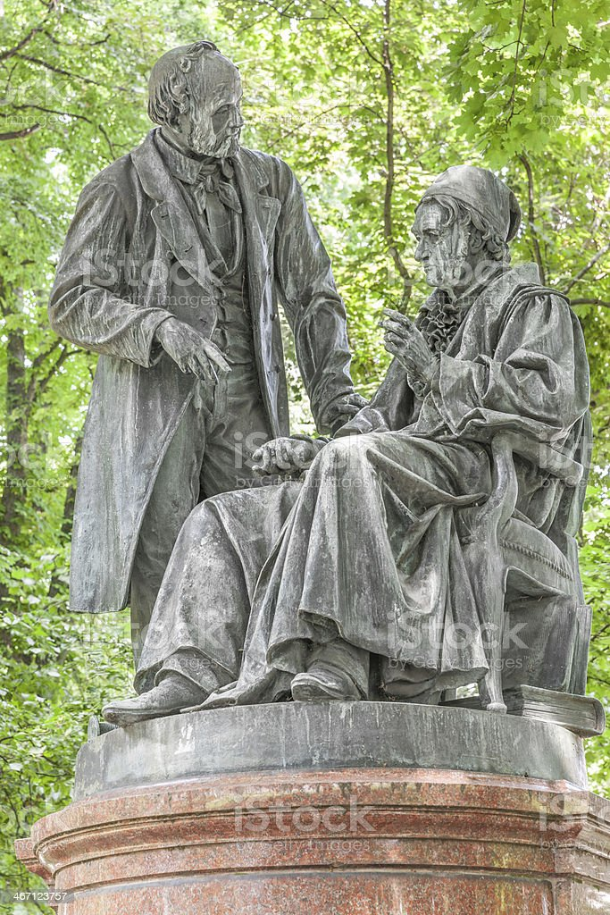 Statue of Gauss and Weber in Gottingen. royalty-free stock photo