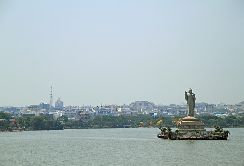 statue of Gautam Buddha in Hyderabad