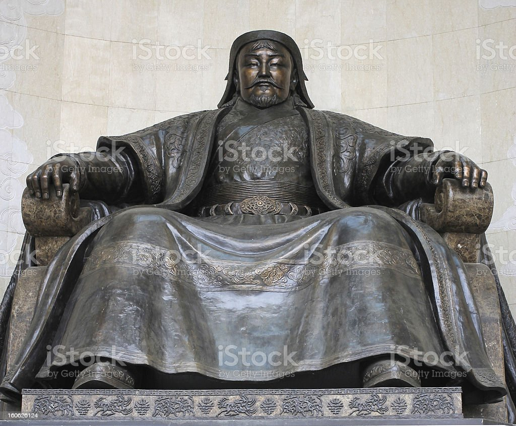 Statue of Genghis Khan royalty-free stock photo