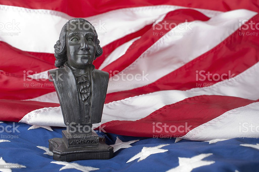 Statue of George Washington stock photo