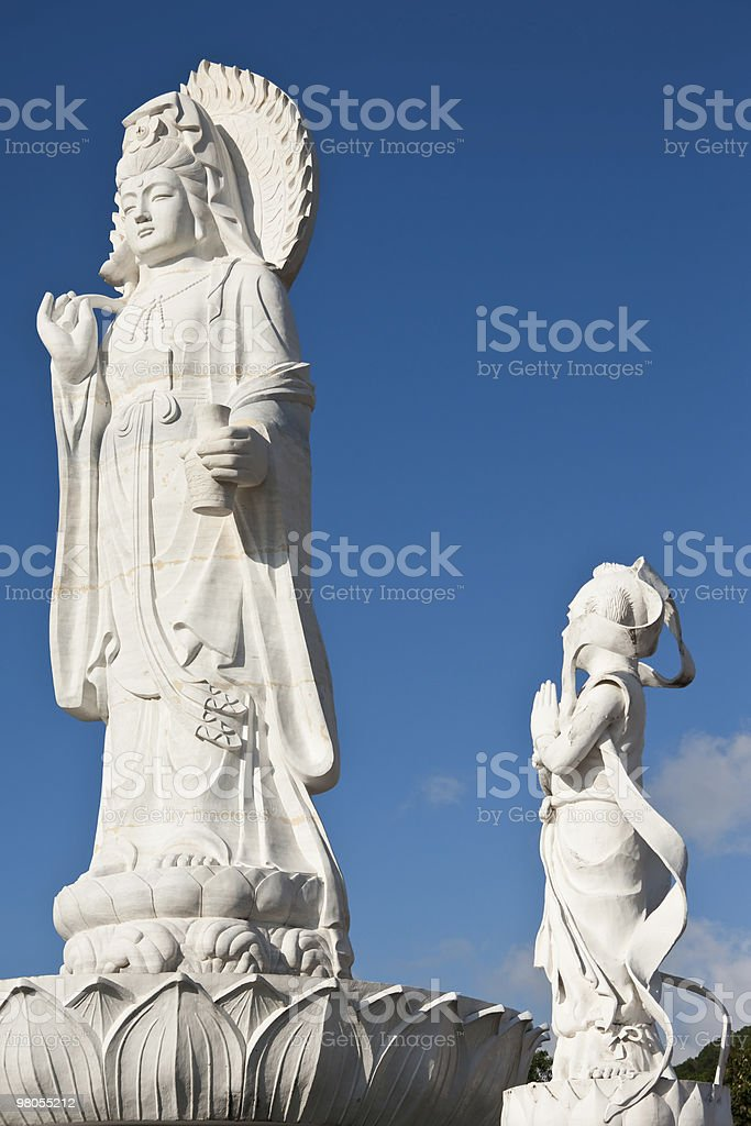 Statue of Guanyin, most important god in Chinese culture royalty-free stock photo