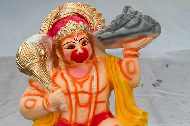statue of Hanuman (the monkey God) stock photo