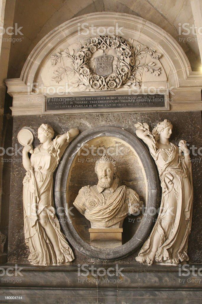황후상 of Henri IV in 세인트 데니스 바실리카 캐서드럴, 프랑스 royalty-free 스톡 사진