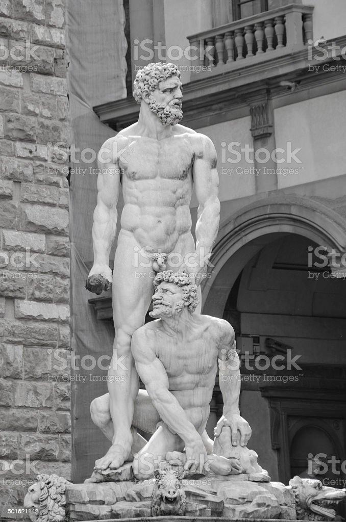 Statue of Hercules and Cacus in Piazza della Signoria, Flo stock photo