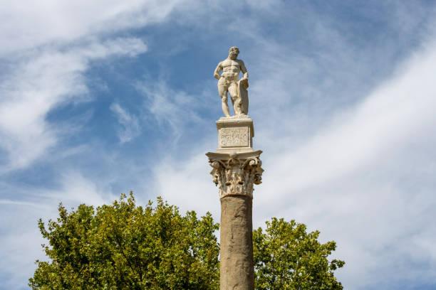 Statue of Hercules at Alameda de Hercules in Seville, Spain