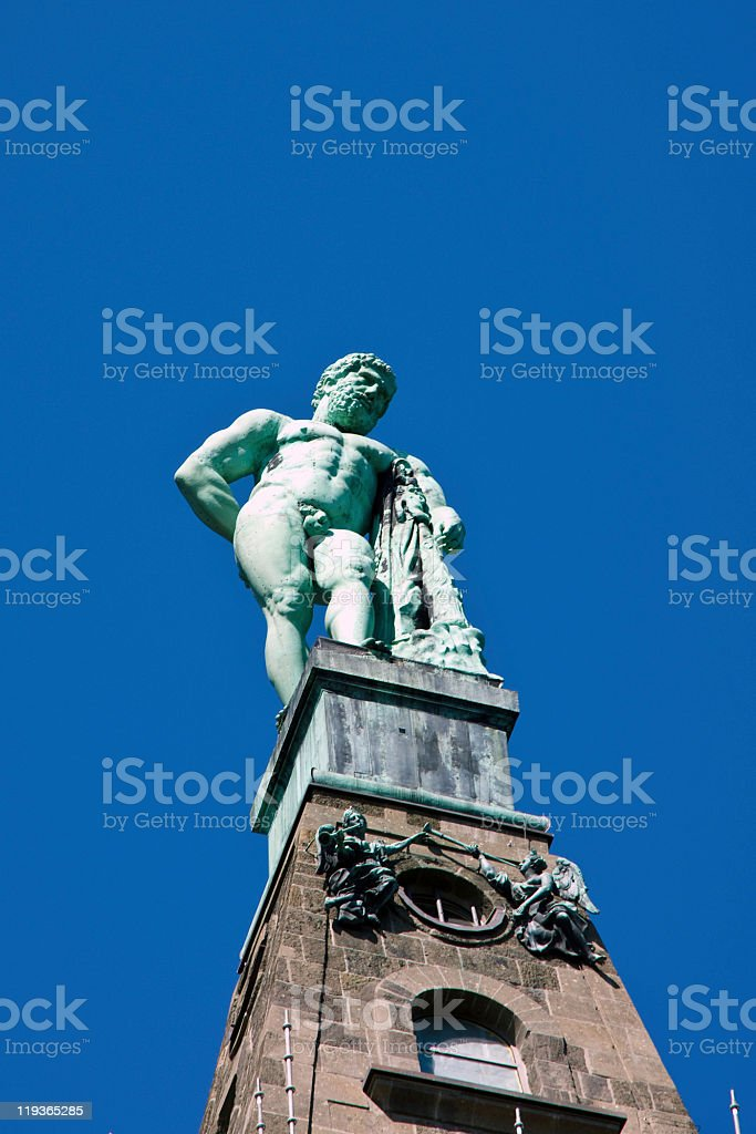 Herkules Statue in Kassel stock photo