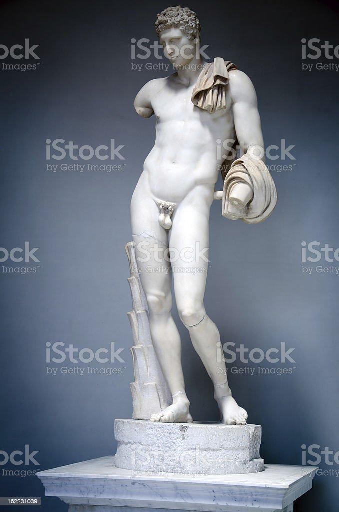 Statue of Hermes, Vatican stock photo