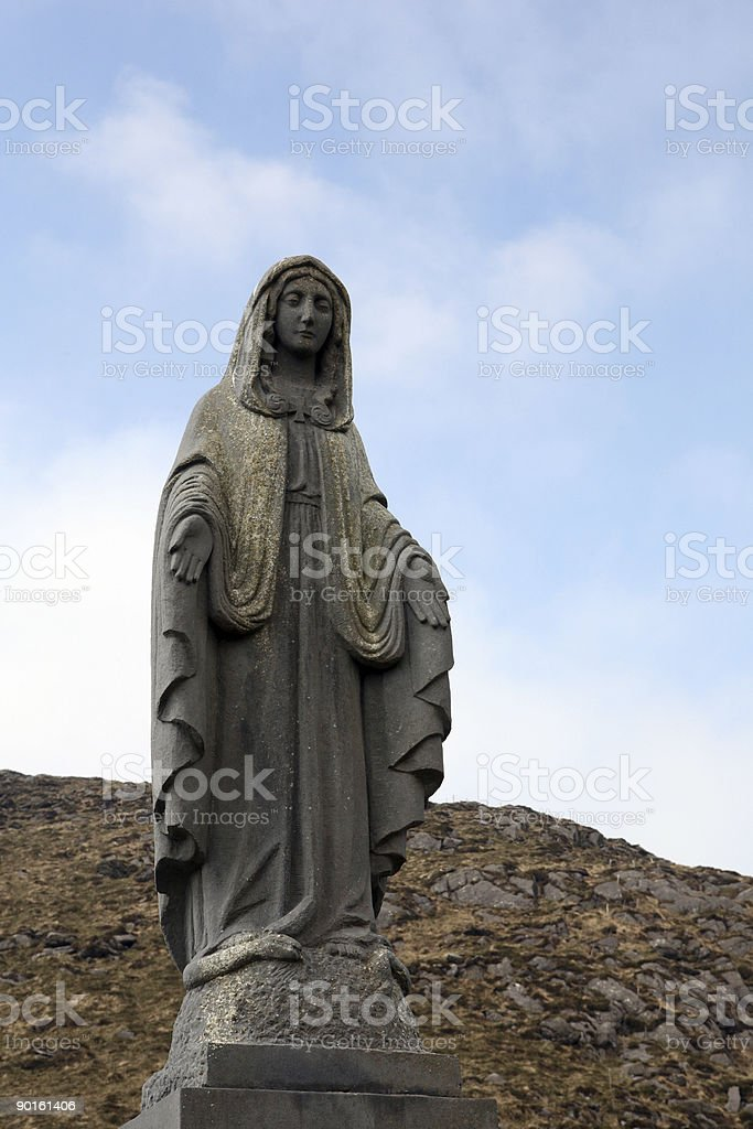 Statue of Holy Mother stock photo