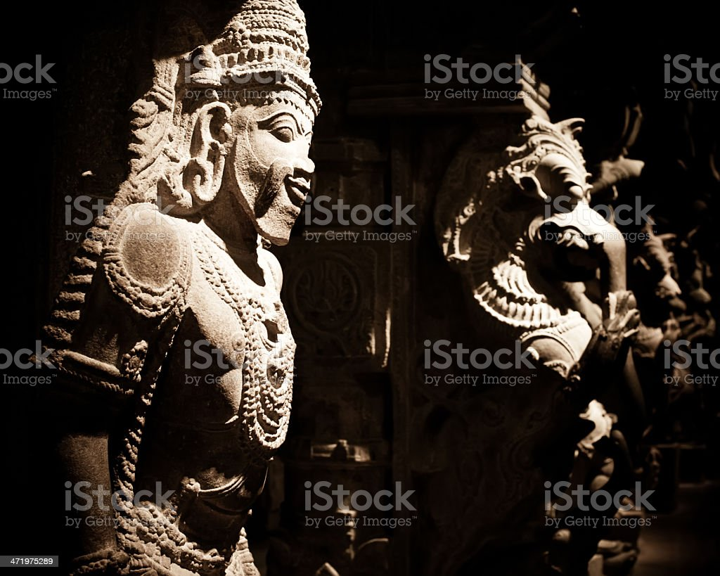 Statue of Indian god at Hindu Temple. India stock photo